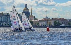 Loppet för den europeiska seglingen kämpar för ligan från 11 till 13 Arkivfoton