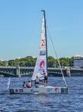Loppet för den europeiska seglingen kämpar för ligan från 11 till 13 Royaltyfri Foto