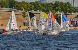 Loppet för den europeiska seglingen kämpar för ligan från 11 till 13 Royaltyfri Fotografi