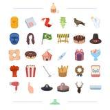 Loppet, medicin, sportar och annan rengöringsduksymbol i tecknad film utformar utbildning matlagning, byggnadssymboler i uppsättn vektor illustrationer