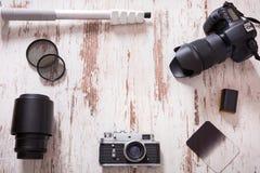 Loppfotografibakgrund Arkivbild