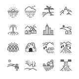 Lopplägelinje symbol stock illustrationer