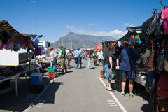 Loppmarknad i Cape Town, Sydafrika Arkivfoto