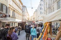 Loppmarknad i Europa royaltyfria bilder