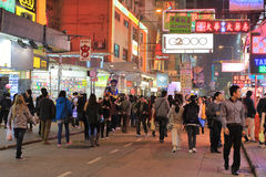 Loppmarknad i Mong Kok i Hong Kong Arkivbilder