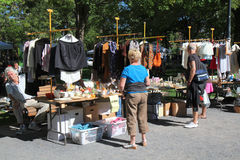 loppmarknadmolsonpark Royaltyfri Foto
