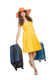 Loppsemesterbegrepp med bagage Royaltyfria Bilder