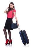 Loppsemesterbegrepp med bagage Arkivbilder