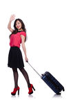 Loppsemesterbegrepp med bagage Royaltyfri Bild