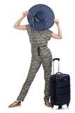 Loppsemesterbegrepp med bagage Arkivfoto