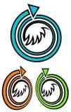 Loppsymbol stock illustrationer