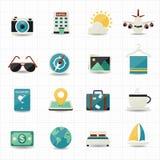 Loppsymboler och hotellsymboler Arkivbild