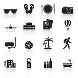 Loppsymboler set01 royaltyfri illustrationer