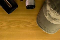 Lopptillbehören inkluderar den ingen tangenten för locket för den fick- kameran för pengar Royaltyfria Bilder
