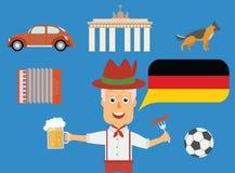 Lopptyskbegrepp Tyska traditioner och kulturillustration Royaltyfri Fotografi