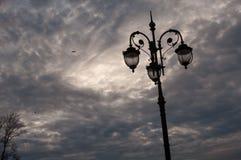 Lopsided streetlight Royalty Free Stock Image