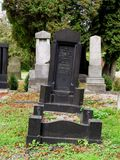 Lopsided tombstone Stock Image