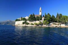 Lopud. Church of Lopud, Island near Dubrovnik, Croatia Royalty Free Stock Image