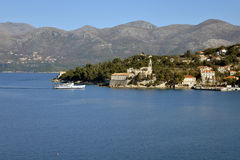 Lopud-Insel, Dubrovnik, Kroatien Altes Dorf Stockfotografie