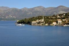Lopud island, Dubrovnik, Croatia. Old village Stock Photography