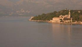Lopud island, Dubrovnik, Croatia. Old village Stock Photo