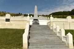 Lopushnya, Ukraine - 9 juillet 2018 : Mémorial au soldi turc photos stock