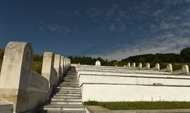 Lopushnya, Ukraine - July 9, 2018: Memorial to the Turkish soldiers who died in First World War on Galician front. Memorial is lo. Cated in the village Lopushnya royalty free stock photography