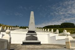 Lopushnya, Ukraine - July 9, 2018: Memorial to the Turkish soldiers who died in First World War on Galician front. Memorial is lo. Cated in the village Lopushnya stock photo