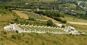 Lopushnya, Ukraine - July 9, 2018: Memorial to the Turkish soldiers who died in First World War on Galician front. Memorial is lo. Cated in the village Lopushnya stock image
