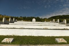 Lopushnya, Ukraine - July 9, 2018: Memorial to the Turkish soldiers who died in First World War on Galician front. Memorial is lo. Cated in the village Lopushnya royalty free stock photos