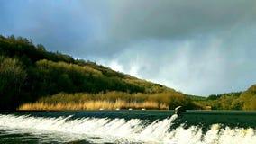Lopwell Dam, River Tavy ,Dartmoor ,Devon stock photo