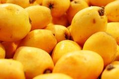 loquat плодоовощ предпосылки Стоковое Фото