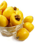 Loquat on bowl Royalty Free Stock Images