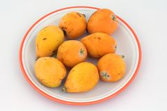 Loquat fruit Stock Photo