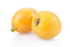 Loquat fruits royalty free stock photos