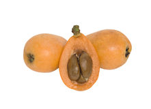 Loquat and its sections Royalty Free Stock Photography