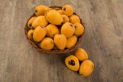 Loquat-Mispelfrucht Stockbild