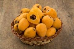 Loquat-Mispelfrucht Lizenzfreies Stockfoto