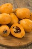 Loquat-Mispelfrucht Stockfoto