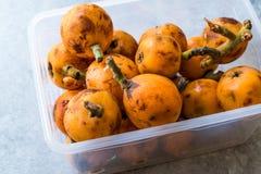 Loquat Plum Fruits / Eirobotrya Japonica Ready to Eat. Organic Food Stock Photos