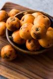 Loquat Plum Fruits / Eirobotrya Japonica Ready to Eat. Organic Food Royalty Free Stock Photos