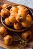 Loquat Plum Fruits / Eirobotrya Japonica Ready to Eat. stock images