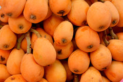 Loquat in stack Royalty Free Stock Image