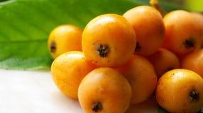 Loquats maduros. Imagens de Stock Royalty Free