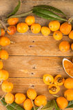 Loquats and marmalade still life Royalty Free Stock Images