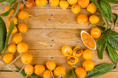 Loquats and marmalade Royalty Free Stock Images