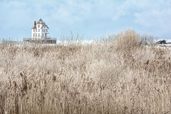 Lorain Lighthouse in Winter Stock Photo