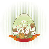 Loral background decorated with Easter Egg shape Royalty Free Stock Photo