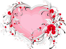 Loral heart. Stock Image