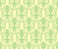 Loral light green floral wallpaper Royalty Free Stock Photography